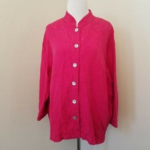 Chico's Size 2 or Large Pink Silk Blend Top